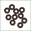 5mm rubber o-rings per 10 pieces CHOCOLATE