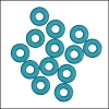 5mm rubber o-rings per 10 pieces SKY BLUE