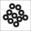 5mm rubber o-rings per 10 pieces BLACK