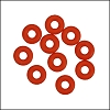 5mm rubber o-rings per 10 pieces ORANGE