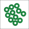 5mm rubber o-rings per 10 pieces KELLY GREEN