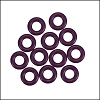 7.25mm rubber o - rings 10 pcs AMETHYST