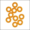 7.25mm rubber o - rings 10 pcs TANGERINE