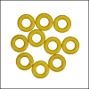 7.25mm rubber o - rings 10 pcs LEMON
