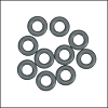 7.25mm rubber o - rings 10 pcs CHARCOAL