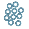 7.25mm rubber o - rings 10 pcs ICE BLUE