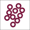 7.25mm rubber o - rings 10 pcs CRANBERRY