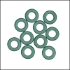 7.25mm rubber o - rings 10 pcs SAGE GREEN