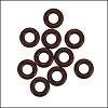 7.25mm rubber o - rings 10 pcs CHOCOLATE