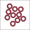 7.25mm rubber o - rings 10 pcs MERLOT