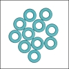 7.25mm rubber o - rings 10 pcs SKY BLUE