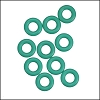 7.25mm rubber o - rings 10 pcs AQUA