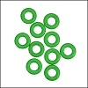 7.25mm rubber o - rings 10 pcs BRIGHT GREEN