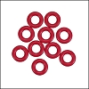7.25mm rubber o - rings 10 pcs CHERRY
