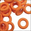 10mm rubber o-rings per 10 pieces TANGERINE