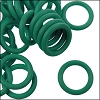 12mm rubber o-rings per 10 pieces KELLY GREEN