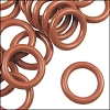 12mm rubber o-rings per 10 pieces BURNT ORANGE