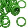10mm rubber o-rings per 10 pieces BRIGHT GREEN