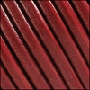 6mm Round (with hole) Portuguese Leather DISTRESSED RED - 1 meter