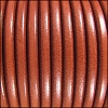 5mm Round Premier Leather BURNT ORANGE - per 10 feet