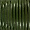 5mm Round Premier Leather ARMY GREEN - per 10 feet