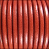 5mm Round Premier Leather ORANGE - per 10 feet