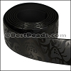 25mm flat GLOSSY band STYLE 1 - per 1 meter