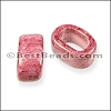 Regaliz® 10mm OVAL ceramic bead RED:PINK - per 10 pcs