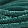 MINI Regaliz® Braided Leather TURQUOISE - 1 meter