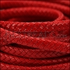 MINI Regaliz® Braided Leather CRIMSON - 1 meter