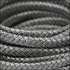 MINI Regaliz® Braided Leather METALLIC SILVER - 1 meter