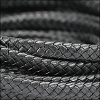 MINI Regaliz® Braided Leather GRAPHITE - 1 meter