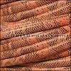 MINI Regaliz® Leather Oval FAUX SNAKE DESIGN  CORAL - per 1 meter