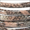 MINI Regaliz® Leather Oval SYNTHETIC BROWN/SALMON per 3.28ft (1 meter)
