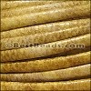 MINI Regaliz® Leather Oval FAUX SNAKE DESIGN  GOLD - per 1 meter