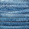MINI Regaliz® Leather Oval FAUX SNAKE DESIGN  BLUE - per 1 meter