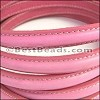 MINI Regaliz® Leather Oval STITCHED PINK - per 1 meter