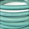 MINI Regaliz® Leather Oval STITCHED ICE GREEN - per 1 meter
