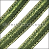 MINI Regaliz® Leather Oval SPARKLE STITCHED GREEN - per 1 meter