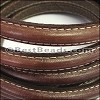 MINI Regaliz® Leather Oval STITCHED MEDIUM BROWN - per 1 meter