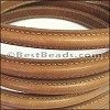 MINI Regaliz® Leather Oval STITCHED CAMEL - per 1 meter