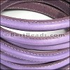 MINI Regaliz® Leather Oval STITCHED LILAC - per 1 meter
