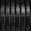 Regaliz® EMBOSSED Leather BLACK - per meter