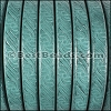 Regaliz® EMBOSSED Leather TURQUOISE - per meter
