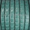 Regaliz® SCALES Leather TURQUOISE - per meter