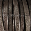 Regaliz® Leather Oval TEXTURED BROWN - per meter