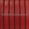 Regaliz® Leather Wire Core with hole RED - per 1 meter