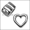 Regaliz® OPEN HEART spacer ANT. SILVER - per 10 pieces