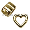 Regaliz® OPEN HEART spacer GOLD - per 10 pieces