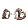 Regaliz® FLOATING HEART spacer ANT. COPPER - per 10 pieces